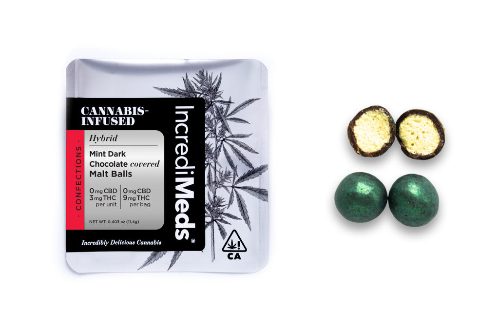 Single Dose Malt Balls in Mint Dark Chocolate