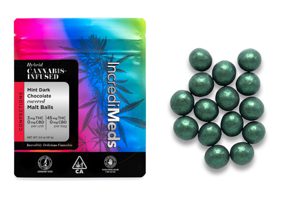 Malt Balls in Mint Dark Chocolate