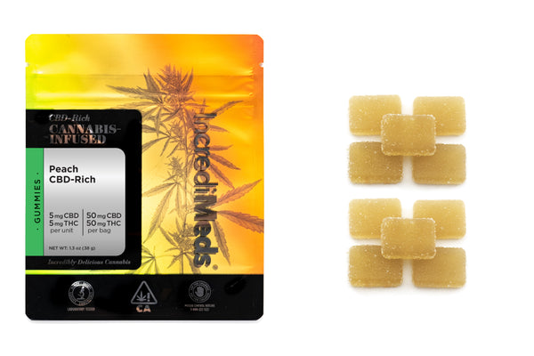 CBD 1:1 Peach Gummies