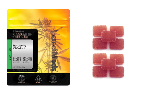 CBD 1:1 Raspberry Gummies