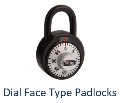 Dial Face Combination Padlocks