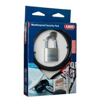 Abus Combo Pack Cable Padlock Cobra 10-200 and 80TI/50 Padlock