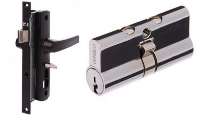 Combo Pack - Whitco Tasman MK2 Screen Door Lock and C4 Key Euro Cylinder [W892117_W842500]
