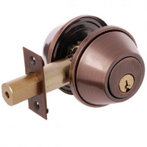Brava Urban Double Cylinder Deadbolt - Antique Copper [D392B]