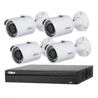 Dahua 4K 4 Channel NVR CCTV Kit Including 2TB HDD 4 x 3MP IR Bullet Cameras