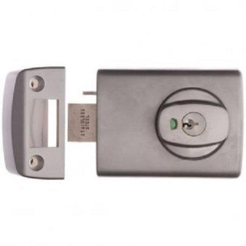 Lockwood 001 Deadlatch - Satin Chrome Pearl (Metal Frame, Open In) [0013K1SC]