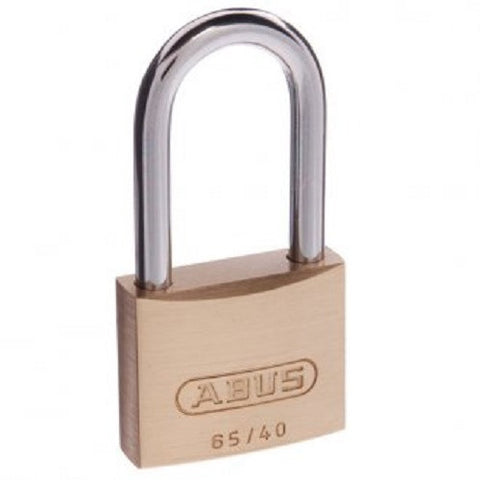 Abus 65/40 40mm Pack of 2 Extended Shackle Brass Padlock - Keyed Alike [6540HB40KAx2]