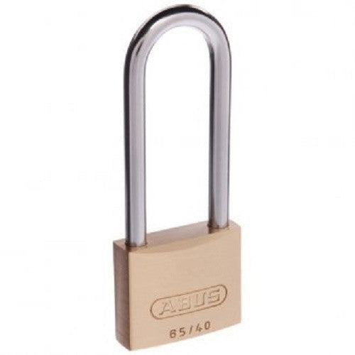 Abus 65/40 63mm Extended Shackle Brass Padlock