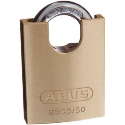 Abus 65/50 Concealed Shackle Brass Padlock