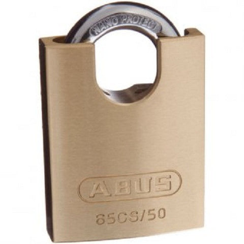 Abus 65/50 Concealed Shackle Pack of Two Brass Padlock - Keyed Alike [65CS50KAx2]