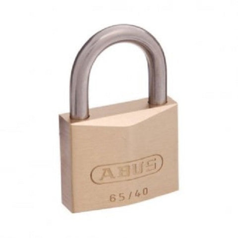 Abus 65/40 Brass Padlock Pack of Two With Stainless Steel Shackle - Keyed Alike [65IB40KAx2]