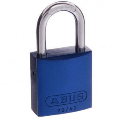 Abus 72/40  Box of 2 Blue Padlock - Keyed Alike [7240BLUKAx2]