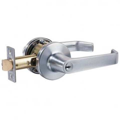 Lockwood 950 Entrance Lever Set - Satin Chrome (70mm Backset) [950SC]