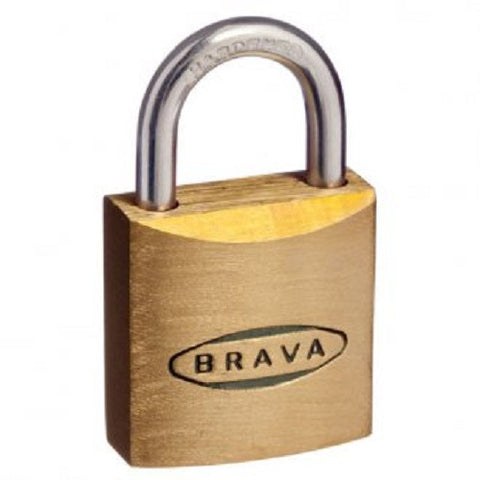 Brava 40mm Box Of 4 Brass Padlocks - Keyed Alike [BRP40KAx4]