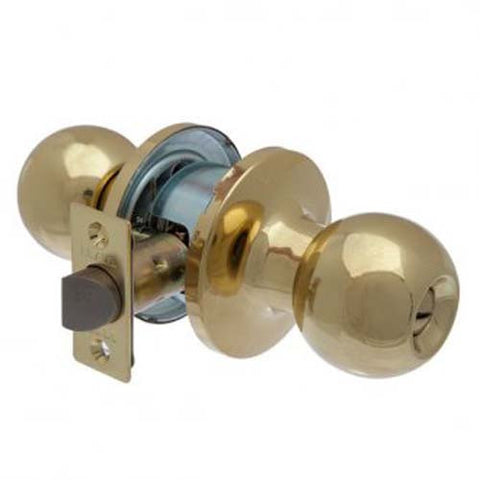 Brava Metro Privacy Knob Set, Tiebolt Fixing - Polished Brass [RA3130PB]