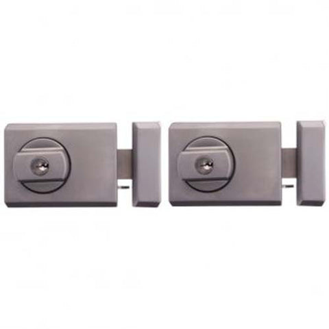 Whitco Deadlatch Twin Pack - Satin Chrome (Timber Door) [W754205]