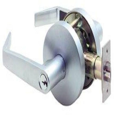 Carbine Doncaster Vestibule Lever Set - Satin Chrome (70mm Backset) [PD7062]