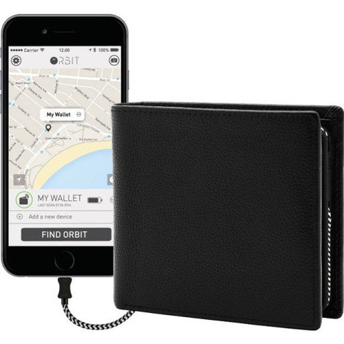 NEW Orbit Wallet Finder & Phone Charger Black (Authorised Seller)