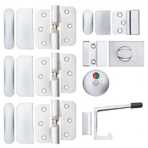 METLAM PARTITION SET 106 C LH 3 HINGES SC BOLT THROUGH HO [50517000]