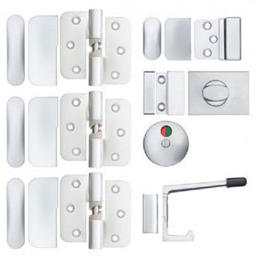 Metlam Partition Set 106 C RH 3 Hinges SC Bolt Through HO