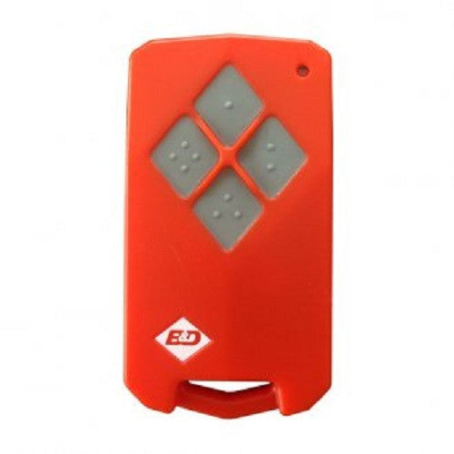 B&D Remote Tri-Tran Diamond Red w/Black or Gray Button