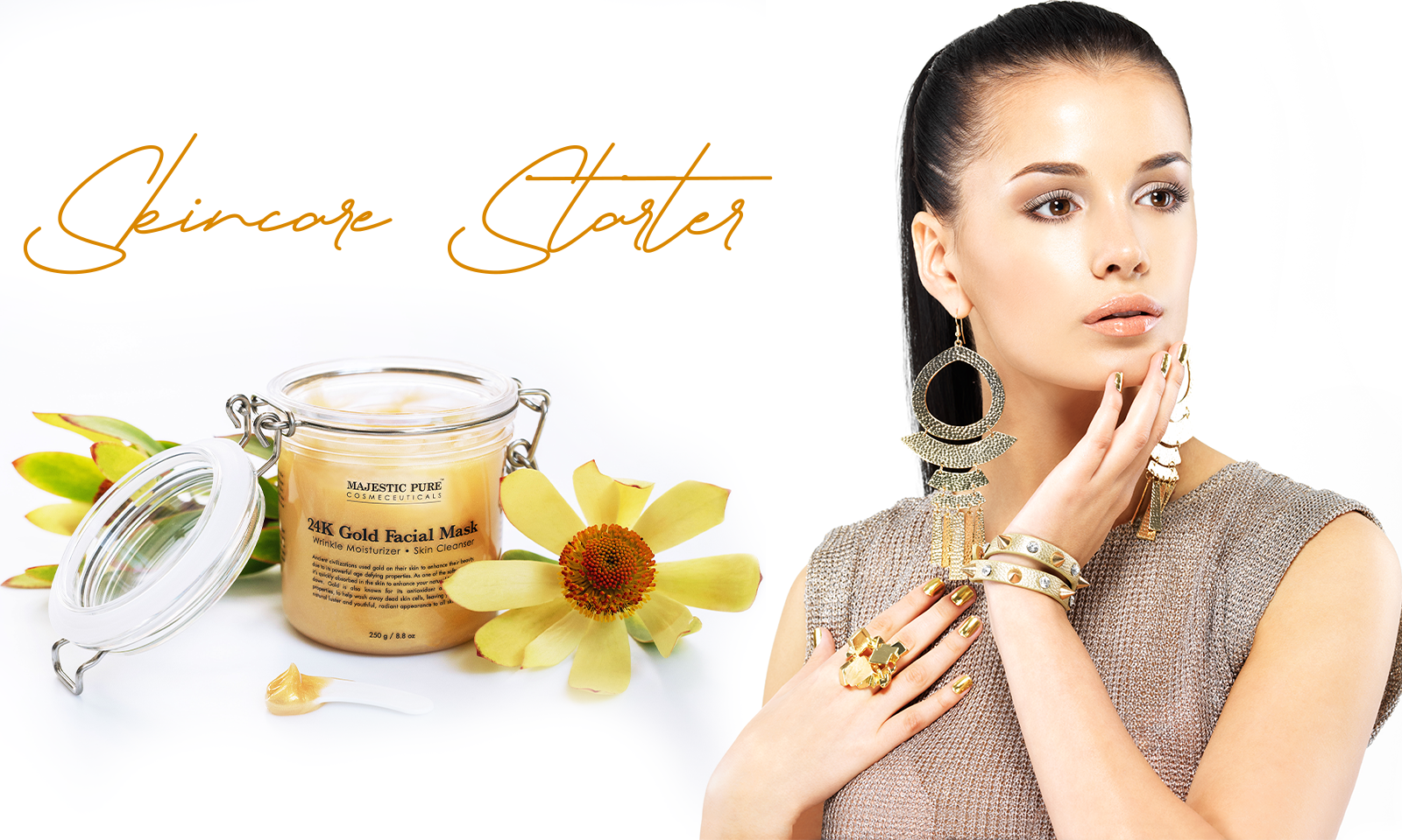 Host a Spa Day This Mother's Day - Majestic Pure 24K gold facial mask