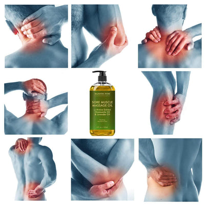 Set of 2 Sore Muscle Massage Oils for Joints and Muscles