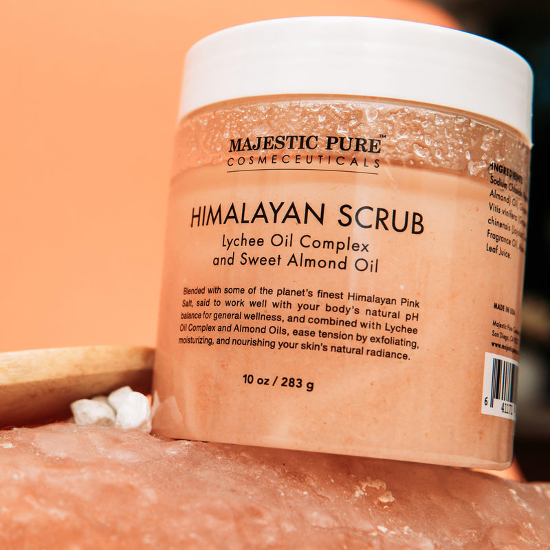 Himalayan Salt Scrub w/ Lychee and Sweet Almond Oil