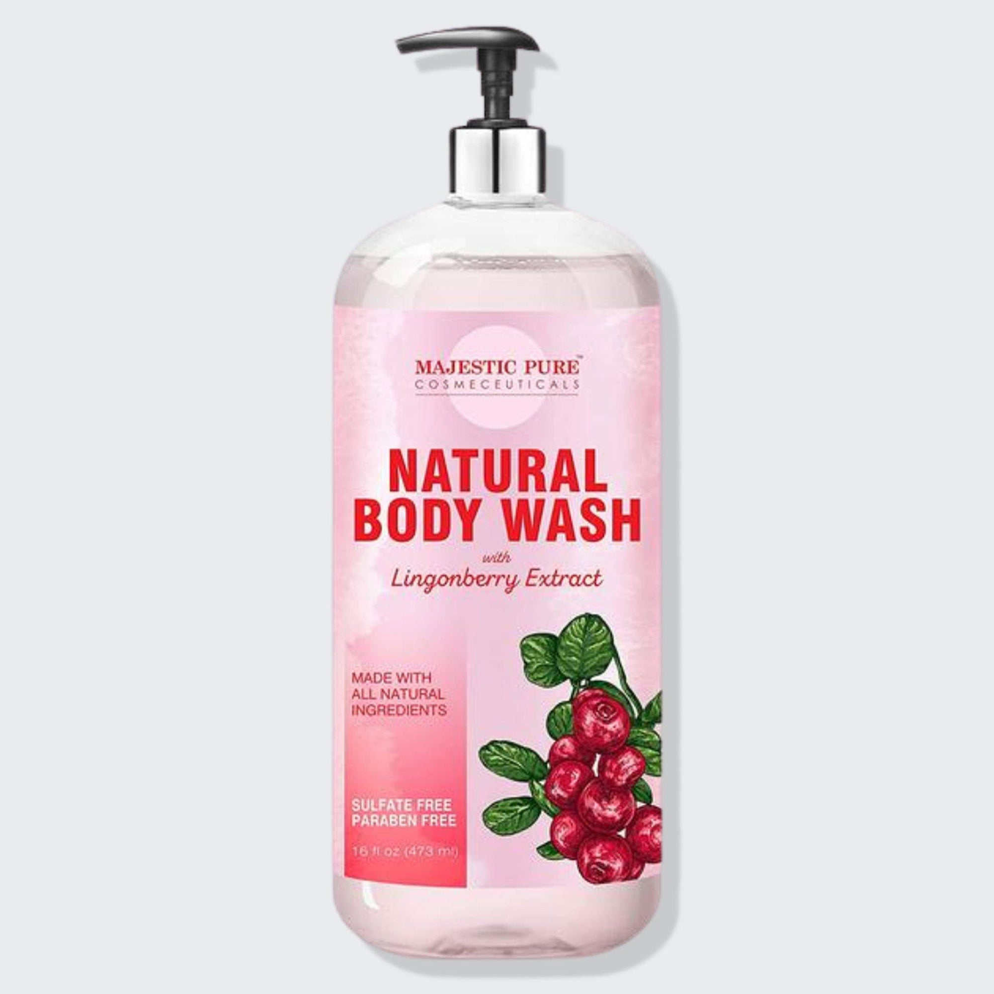Natural Body Wash w/ Lingonberry Extract