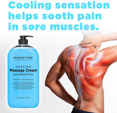 Cooling Massage Cream for Sore Muscles (9 oz)