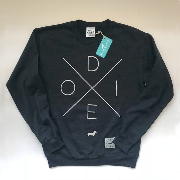 Doxie Crossroads Black Crewneck Sweatshirt