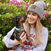 """NEW"" American Doxie Knit Beanie"