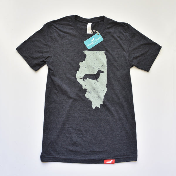 Doxie State Pride Series: Illinois State Doxie Tee