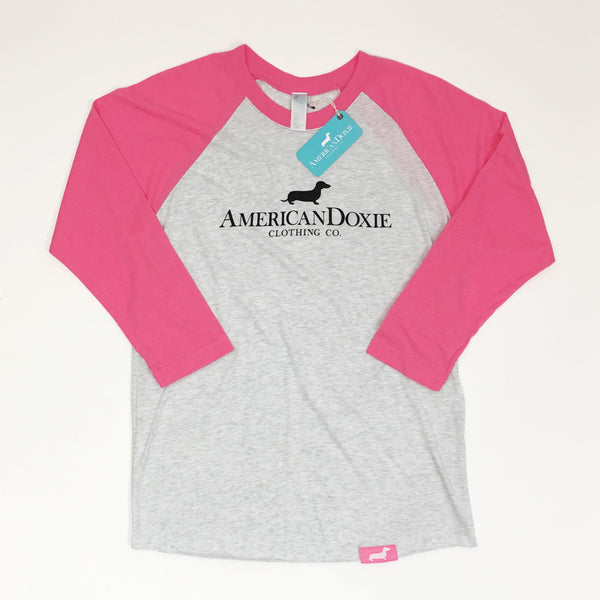 """Think Pink"" American Doxie Classic 3/4 Baseball Shirt (Limited Run)"