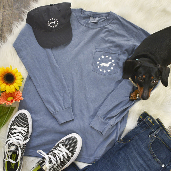 """NEW"" American Doxie Classic Simple Long Sleeve Tee Shirt"