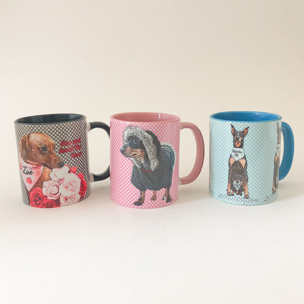 Personalized Comic-Art Coffee Mugs