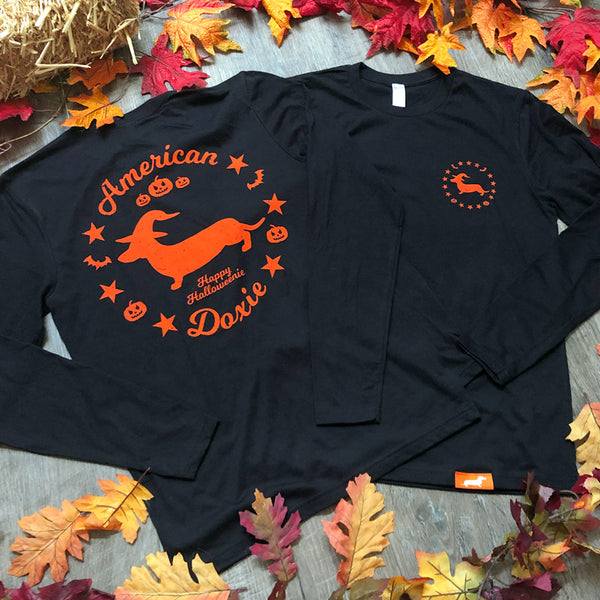 """NEW"" American Doxie Halloweenie 2019 Long Sleeve Tee Shirt (Limited Stock)"