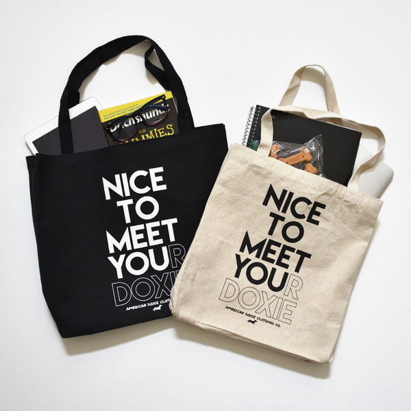 AD Nice To Meet Your Doxie Canvas Tote Bag