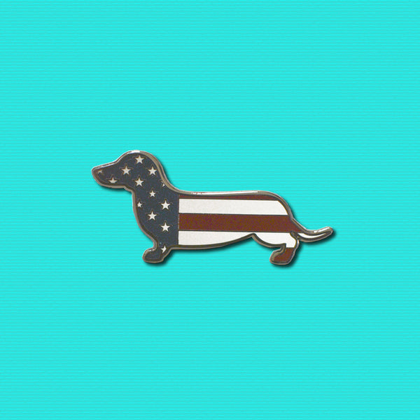 AD Doxie USA Flag Pin