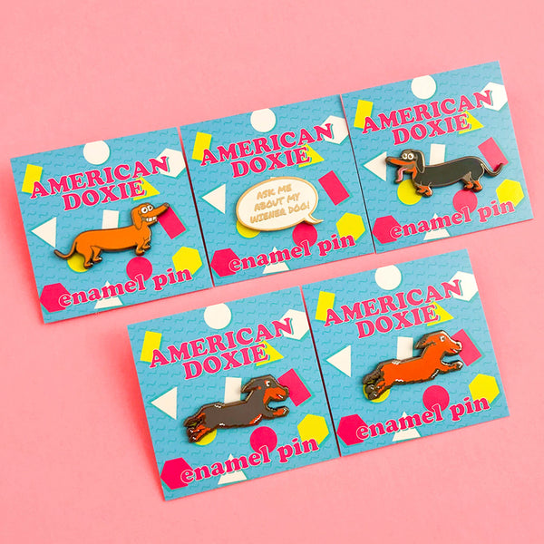 """NEW"" American Doxie Weenie Pins - Series One"