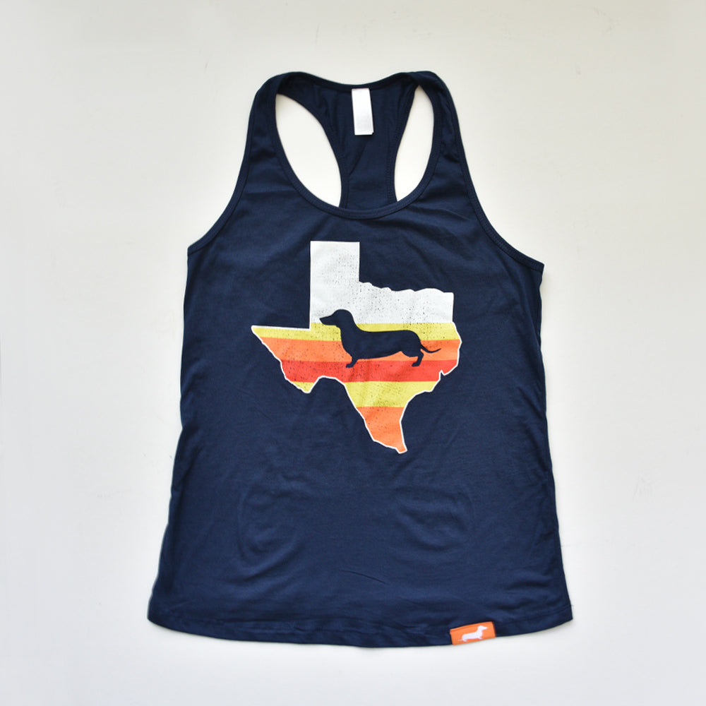 Space City Texas Doxie Ladies' Racerback Tank