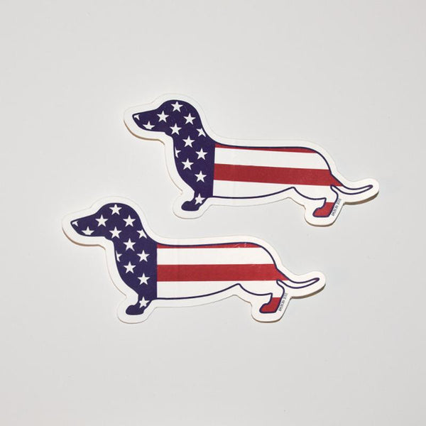 AD USA Flag Sticker 2-Pack
