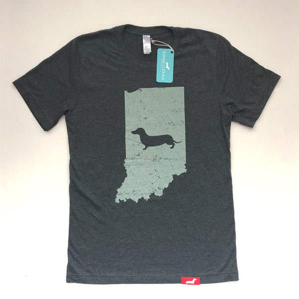 Doxie State Pride Series: Indiana State Doxie Tee