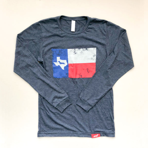Texas Doxie Flag Long Sleeve Tee Shirt