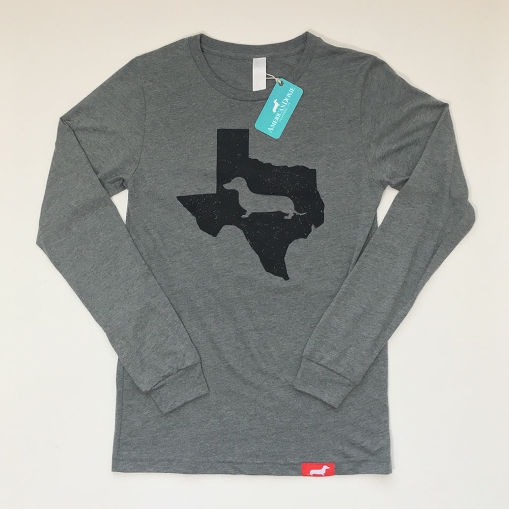 Texas State Doxie Long Sleeve Tee Shirt