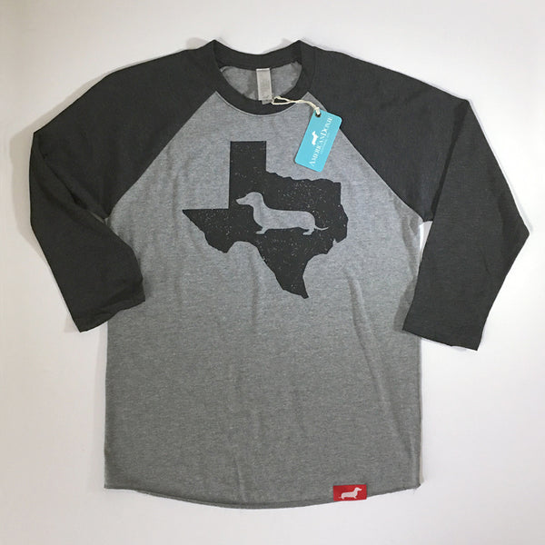 Texas State Doxie 3/4 Baseball Shirt