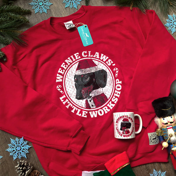 """NEW"" 2018 Weenie Claws' Little Workshop Holiday Sweatshirt"