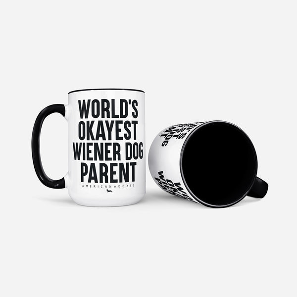 """NEW"" World's Okayest Wienster Dog Parent Jumbo Mug (Limited Quantity)"