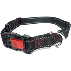 Reflective Dog Collar with Reflector Buckle