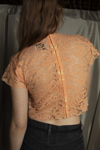 LACE TOMMY TEE, CLEMENTINE